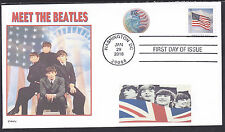 MEET THE BEATLES   USA   BRITISH   FLAG  STATUE OF LIBERTY    FDC- DWc CACHET