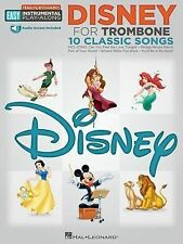 Disney: Trombone Easy Instrumental Play-Along Book with Online Audio Tracks (Hal