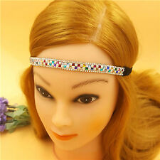 Sparkling Multi Colour Headband Crystal Rhinestone Elastic Vintage Hairband Hair