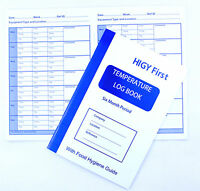 Temperature Log Book Six Month Record Record Food Hygiene Guide Catering Log