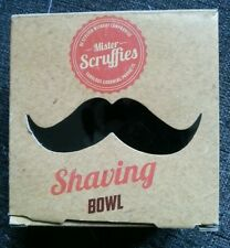 Mister Scruffies Shaving Bowl - Black/Beard/Moustache/Male/Men/Grooming/Maintain