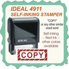 COPY, Custom Made, Trodat / Ideal Self Inking Rubber Stamp, 4911 Red Ink