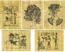 5 SHEETS PAPYRUS PAPER WITH PRE DRAWN EGYPTIAN DESIGNS TO COLOUR SCROLL 20x 30cm