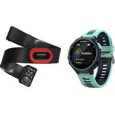 New Genuine Garmin Forerunner 735XT Run Bundle - Midnight Blue/Frost Blue