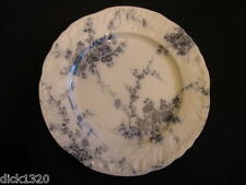 "VICTORIAN BOOTHS ""PRINCESS"" 10"" FLOW BLUE DINNER PLATE Regd.mark 1892 2nd"