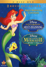 DISNEY DVD 2 MOVIE COLLECTION LITTLE MERMAID I AND II ARIEL'S BEGINNING+RETURN