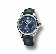 73375944035LS Oris Classic Date Men's Blue Leather Strap Automatic Watch