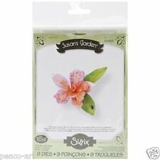 Sizzix Thinlits Die Set of 9 Susan's garden Flower, Cattleya Item 658855