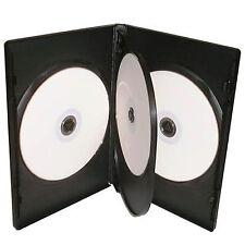 50 X 4 Way Quad CD DVD Blu ray Case Black 14mm Spine HIGH QUALITY
