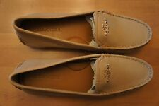Coach - ladies classic loafer in sandalwood w/gold hardware - size 7.5 M