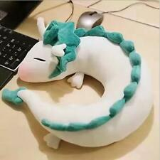 Anime Spirited Away Haku Cute Doll Plush Toy Pillow Neck U-Shape Gift Otaku