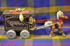 Vintage Miniature HERSEY'S Chocolate Memories Hosre/Carriage Holiday Figure