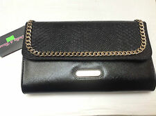 Dolly & Rose Negro y Dorado Clutch Bag BNWT