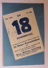 """""""Lotterie, 33. Österreich Klassenlotterie, Eine Million Schilling""""1935 ♥ (46659)"""