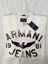 Armani jeans men's t shirt brand new with tags size large white