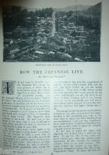 Japanese People Life in Japan Rare Old Victorian Antique 1896 Photo Article