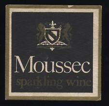 Moussec Sparkling Wine beer mat.