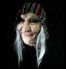 Gypsy Fortune Teller Old Lady Witch Latex Adult Halloween Costume Mask