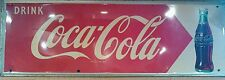 "Large Vintage 1953 Drink Coca Cola Soda Pop Bottle Gas Station 54"" Metal Sign BG"