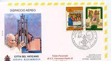 ENVELOPPE VISITE DU PAPE JEAN PAUL II / POSTE VATICANE /  2001