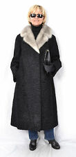 L902 Persianer Swakara Pelz Pelzmantel Nerz Fur Persian Lamb Mink Coat ca. XL