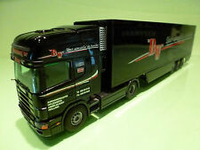 TEKNO HOLLAND SCANIA 124L 400 TRUCK + TRAILER - BW BLACK 1:50 - RARE - EXCELLENT