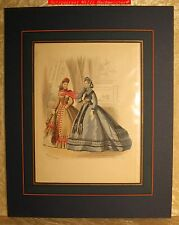"MODE -""LE JOURNAL DES DAMES ....."" Blatt 768-Altkolorierter Stich ca.1864"