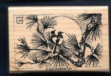 BIRD TREE BRANCH Oriental Art Design Life Stampin' Up! 2004 wood RUBBER STAMP