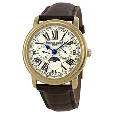 Frederique Constant Multi-Function White Dial Leather Mens Watch FC-270EM4P5