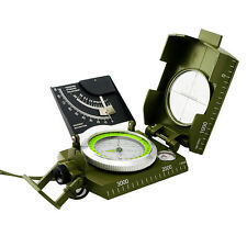 multifunction Professional Military Army Metal Sighting Compass w/ Inclinometer
