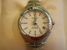 New Seiko Kinetic Auto Relay Men's Watch White Dial SMA129P1