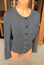 BANANA REPUBLIC Silk Cashmere Gray Cardigan Sweater Long Sleeve Size Small