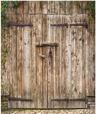 NEW Rustic Wooden Door Old Barn Cool Shower Curtain Bath 60x72 inch FREE Hooks