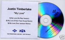 JUSTIN TIMBERLAKE My Love 2006 UK 3-mix promo test CD
