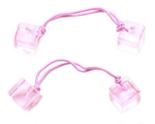 2 pack-Fluorescent, Funky & Super Fun-Peach Pink Jelly Cube Hair Bands.(Zx88)
