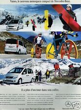 Publicité advertising 2002 Monospace compact Vaneo Merceds Benz