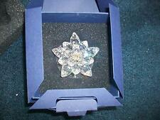 "Swarovski Silver Crystal "" WATER LILY CANDLE HOLDER"" Large MIB"