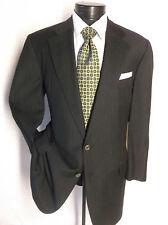 """Ermenegildo Charcoal Gray Super 100'S Stripe Suit 2Button 44S Pant 39""""/ 28 1/2 """""""