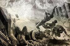 Westville Nova Scotia Canada - 1873 - DRUMMOND MINE EXPLOSION Art  Print Matted