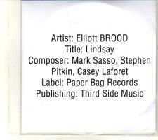 (DR875) Elliott Brood, Lindsay - 2013 DJ CD