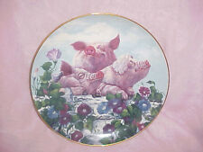 Vintage! Hamming It Up by Joan Wright- Limtd Ed of Pigs in Bloom- Col. Plate