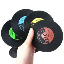 Retro CD-Design Antislip Silicone Drink Coasters Pad Cup Coffee Mat Placemat