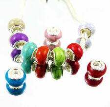 100 PCS mixed color Colorful Resin-Turquoise Beads Fits European Bracelet YM18