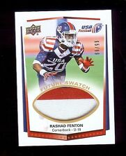 Rashad Fenton - South Carolina 2015 Usa Football Gu *Future Swatch* Rc #'d 66/99