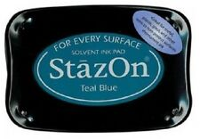 StazOn Solvent Ink Pad TEAL BLUE SZ-63 Tsukineko Sealed! Brand New!