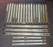 """Pack of 10 Pairs 22"""" Ball Bearing Full Extension Drawer Slides Zinc 100 lbs New"""