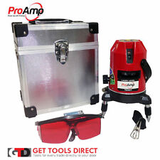 New Auto Self Leveling Cross Line Laser Level 5 Beam With Plumb Dot Proamp
