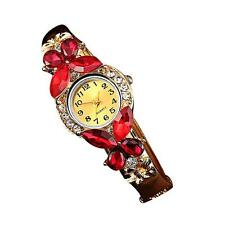 Women Crystal Rhinestone Butterfly Bracelet Watch Alloy Quartz Watch Wristwatch