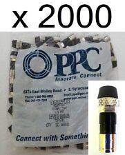 LOT 2000 Coax Connectors RG6 Cable Compression EX6XLWSPLUS PPC Fittings Coaxial