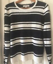 Ann Taylor Womens Striped furry sweater NWOT,sz M, Incredibly Soft & Comfy!